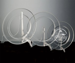 Teller aus Kristallglas