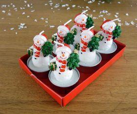 Schneemann Teelichter im 6er Set