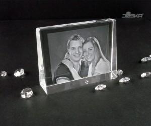 2D-Lasergravur Kristallblock 10,5 x 8 x 3cm