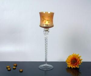 Satiniert amber Leuchter