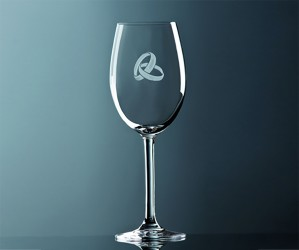 Rotwein Glas Ringe