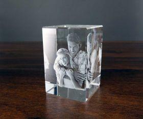 3D-Glasfoto 9x6x6cm