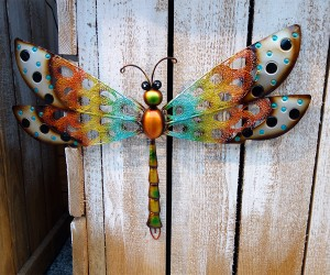 Libelle bunt aus Metall