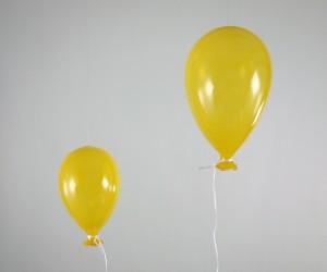 Luftballon aus Glas gelb