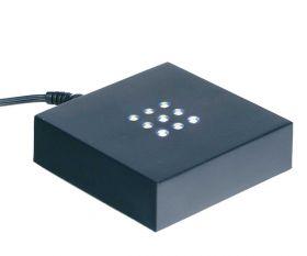 LED Sockel schwarz quadratisch