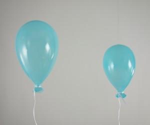 Luftballon aus Glas blau