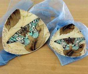 Fusingschale dreieckig mit Schmetterling