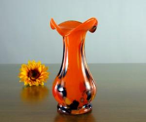 Orange Vase aus Glas