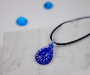 Kinder Halskette Tropfen blau