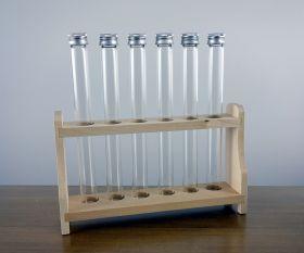 Holzständer inkl. Glasröhren
