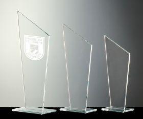 Flachglas Pokal
