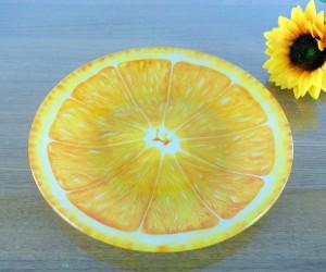 Glasteller Orange