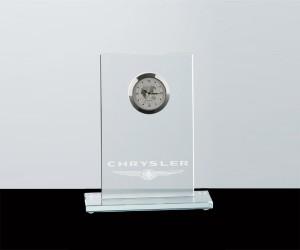 Flachglas mit Uhr