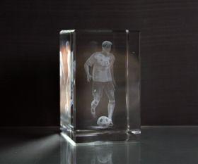 3D-Laserwürfel Fussball