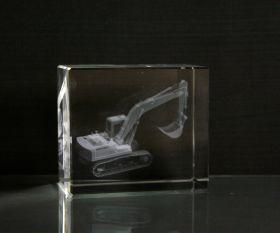 3D-Laserwürfel Bagger