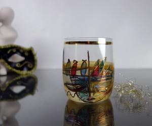 Whisky Venezia Kristallglas handbemalt