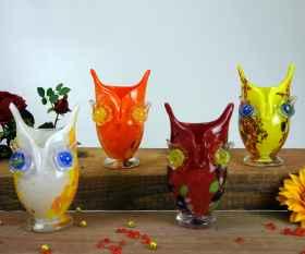 Kleine Eulen Vase gerade