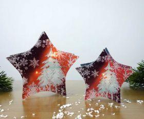 Teelichthalter Winterabend Stern