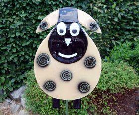Schaf aus Fusingglas