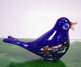 Blaue rGlasvogel