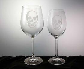 Evil Skull Weinglas