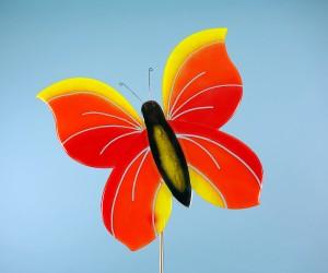 Großer Schmetterling rot orange