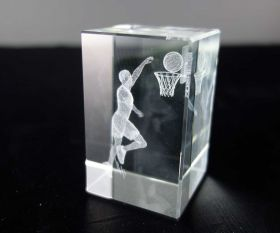 3D-Laserwürfel Basketball